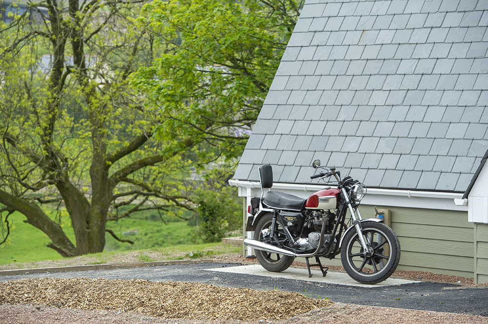 glamping for motorbike groups on Exmoor